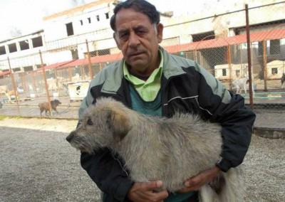 Die Besitzer holen ihr Tier nach der Kastration ab.