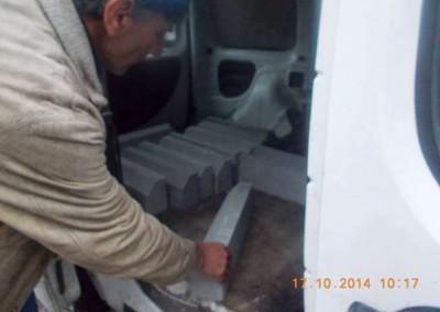 Vorbereitungen für die Ankunft der Container